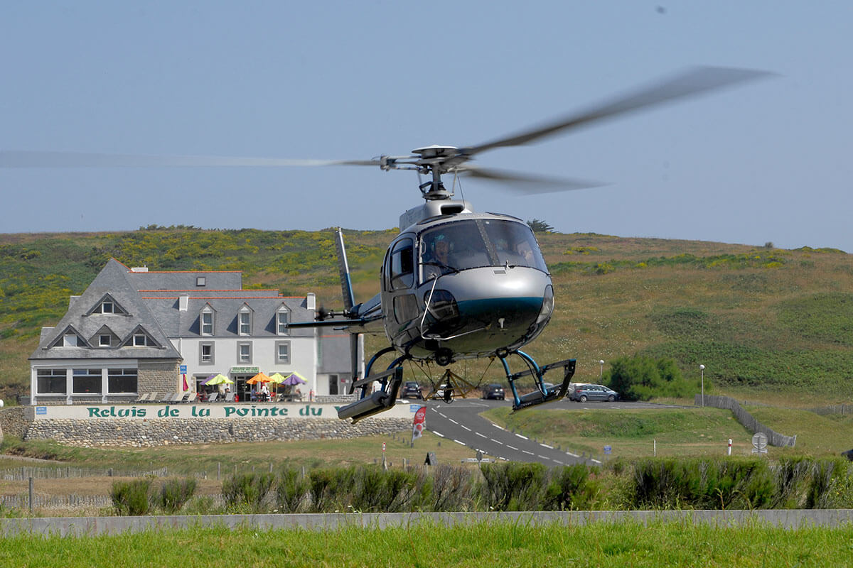 sortie en hélicoptère finistère sud