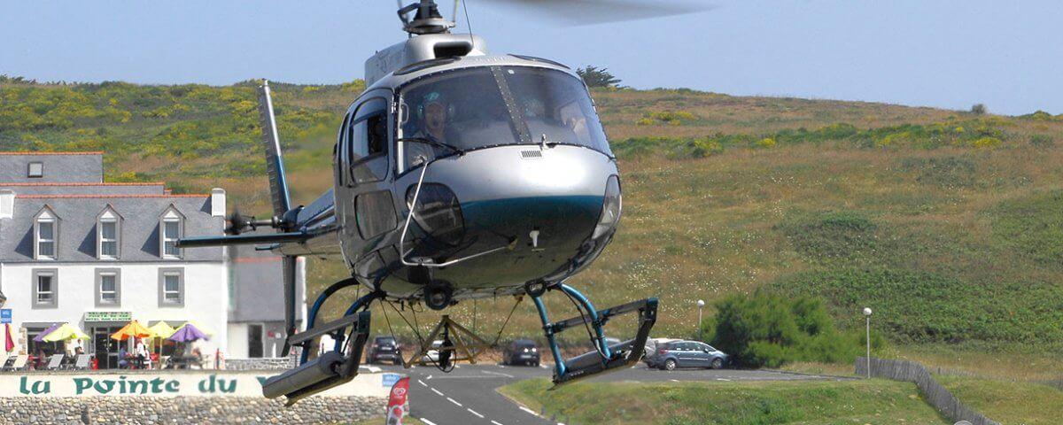sortie hélicoptère en finistère sud