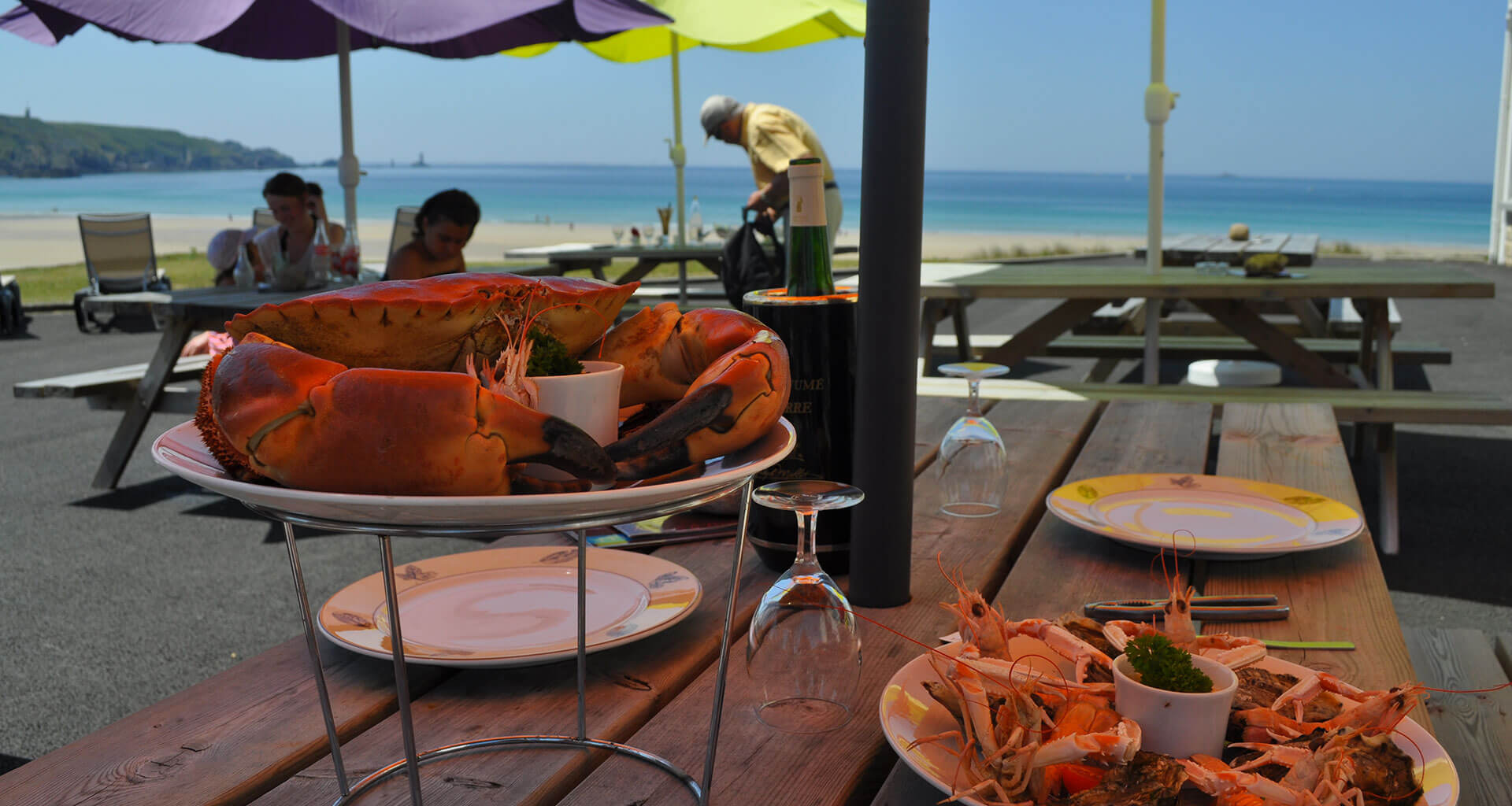 assiettes fruits de mer finsitère sud
